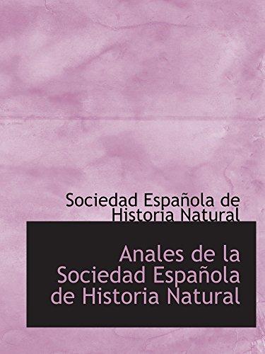 9781110316762: Anales de la Sociedad Española de Historia Natural
