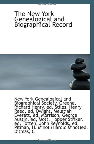 9781110325986: The New York Genealogical and Biographical Record