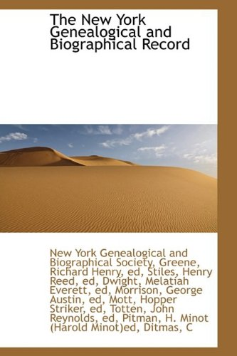 9781110326105: The New York Genealogical and Biographical Record