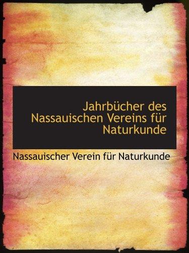 9781110360390: Jahrb�cher des Nassauischen Vereins f�r Naturkunde