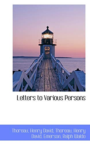 9781110363353: Letters to Various Persons