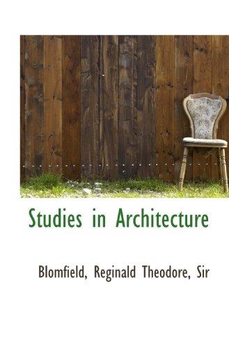 9781110374946: Studies in Architecture
