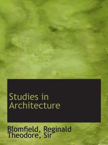 9781110374960: Studies in Architecture