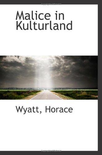 9781110394340: Malice in Kulturland