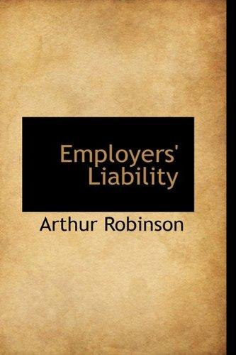 Employers' Liability (1110447132) by Robinson, Arthur