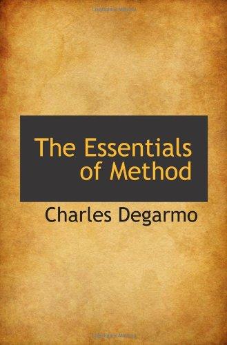 9781110449163: The Essentials of Method