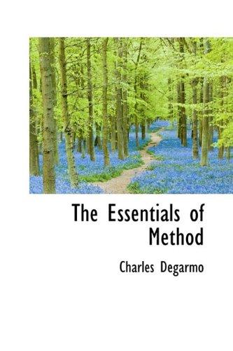 9781110449248: The Essentials of Method