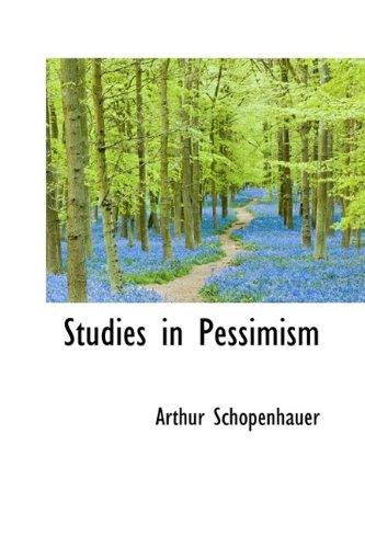 9781110535835: Studies in Pessimism (Bibliolife Reproduction)