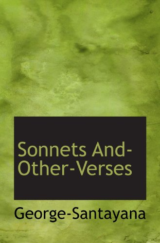 9781110604647: Sonnets And-Other-Verses