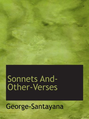 9781110604654: Sonnets And-Other-Verses