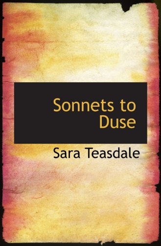 9781110604692: Sonnets to Duse