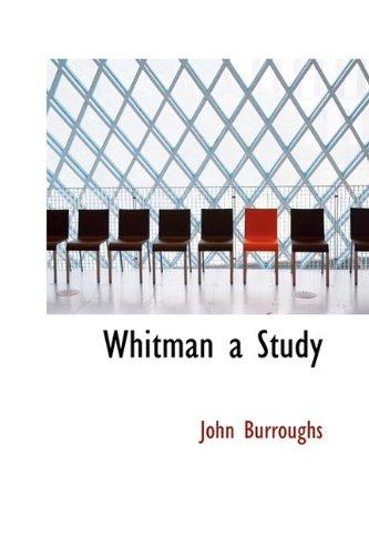 9781110634682: Whitman a Study