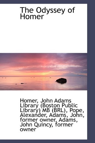 9781110735013: The Odyssey of Homer