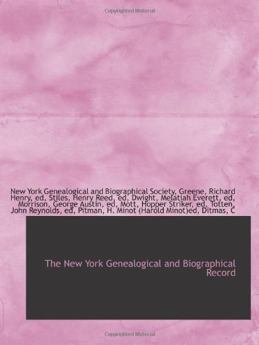 9781110748181: The New York Genealogical and Biographical Record