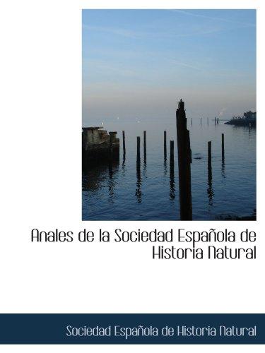 9781110754076: Anales de la Sociedad Española de Historia Natural