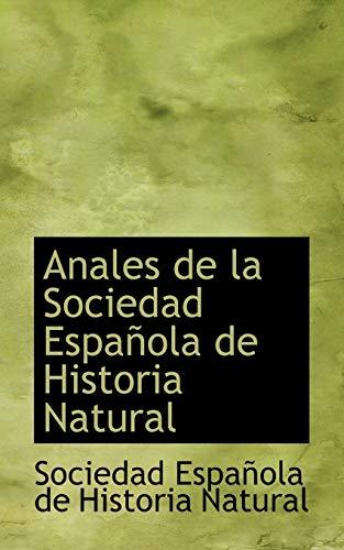 9781110754106: Anales de la Sociedad Española de Historia Natural