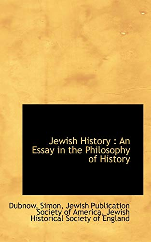 9781110769100: Jewish History: An Essay in the Philosophy of History