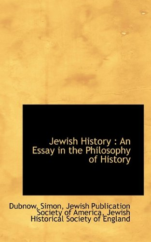 9781110769131: Jewish History: An Essay in the Philosophy of History