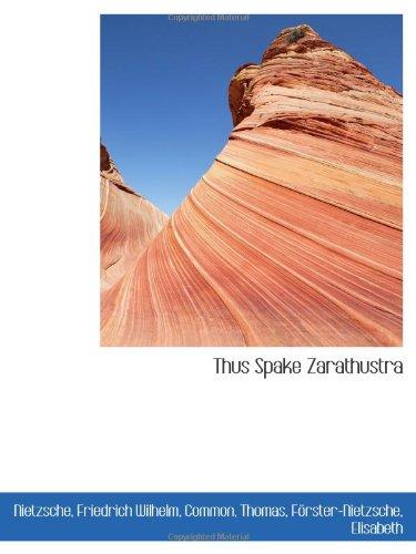 9781110779765: Thus Spake Zarathustra