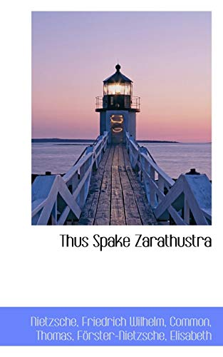 9781110779772: Thus Spake Zarathustra