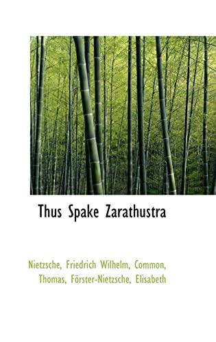9781110779796: Thus Spake Zarathustra