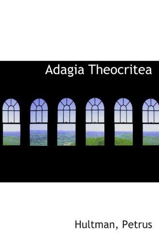 9781110803781: Adagia Theocritea (Latin Edition)