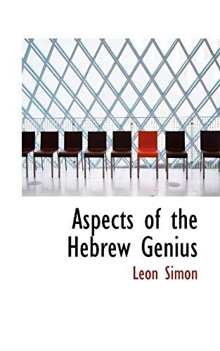 9781110826599: Aspects of the Hebrew Genius