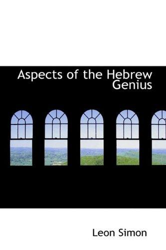 9781110826612: Aspects of the Hebrew Genius