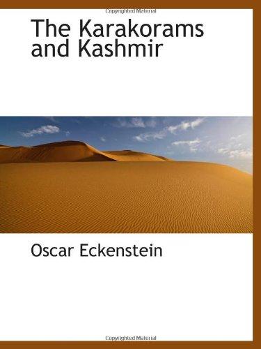 9781110862016: The Karakorams and Kashmir
