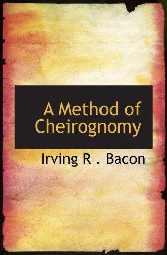 9781110874286: A Method of Cheirognomy