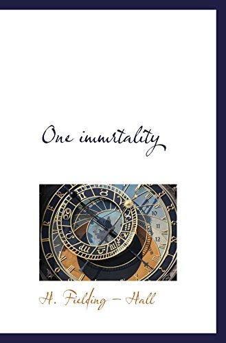 One immrtality: H. Fielding ?