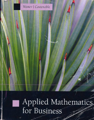 Applied Mathematics for Business: Waner, Costenoble