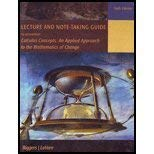9781111033002: Lecture and Note-Taking Guide to Accompany Calculus Concepts: An Applied Approach to the Mathematics
