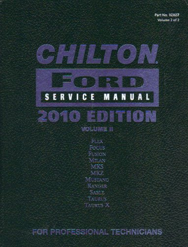 9781111036560: CHILTON FORD SERVICE MANUAL 2010 EDITION: only VOLUME 2 (VOLUME 2)