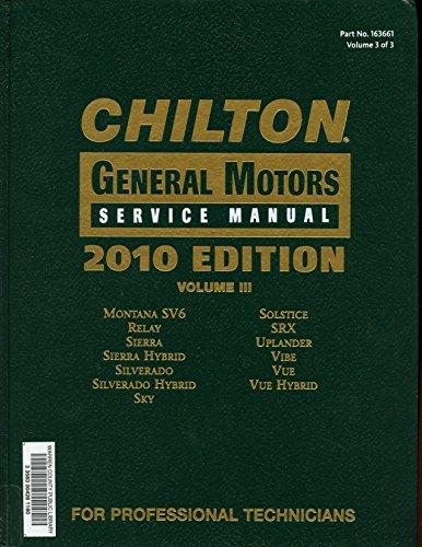 9781111036607: Chilton General Motors Service Manual, Vol. 3 by Various (2010-05-03)