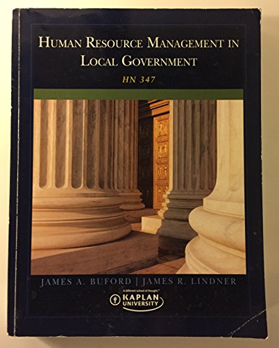 Human Resource Management in Local Government: Buford, james A.;