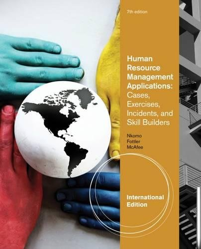 9781111058883: Human Resource Management Applications: Cases, Exercises, Incidents, and Skill Builders, International Edition