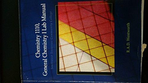 9781111060947: Chemistry 1110, General Chemistry I Lab Manual SWTNCC