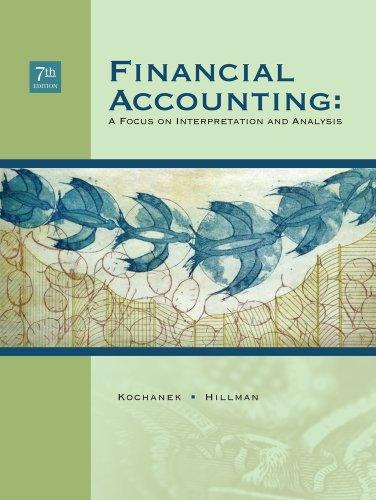 Financial Accounting: A Focus on Interpretation and: Richard F. Kochanek