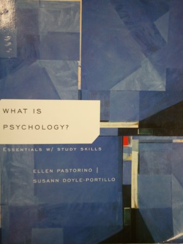 Study guide for pastorino doyle portillo what is psychology