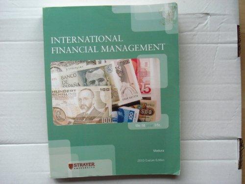 9781111065034: International Financial Management 2010 Custom Edition