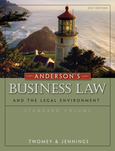 Bundle: Anderson's Business Law and the Legal: Twomey, David P.;