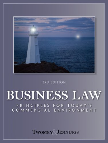 9781111081546: Bundle: Business Law: Principles for Today's Commerical Environment, 3rd + Business Law Digital Video Library Printed Access Card