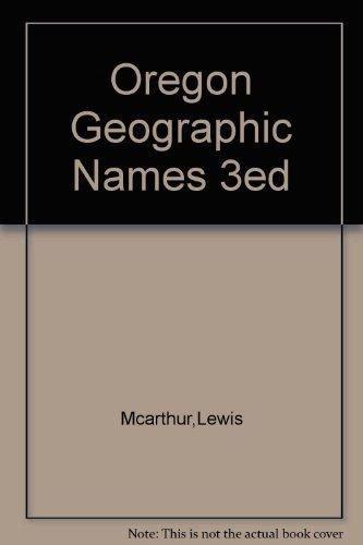9781111097745: Oregon geographic names