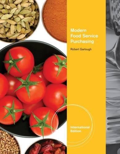 9781111128371: Modern Food Service Purchasing, International Edition