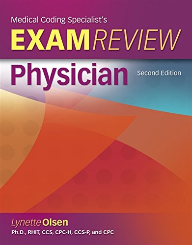 Medical Coding Specialists's Exam Review-Physician (Exam Review Guides): Olsen, Lynette