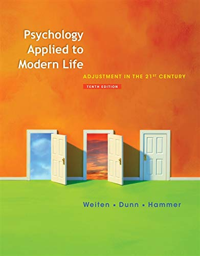 9781111186630: Psychology Applied to Modern Life: Adjustment in the 21st Century (PSY 103 Towards Self-Understanding)