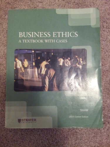 9781111220167: Business Ethics: A Textbook with Cases