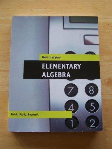 9781111220969: Elementary Algebra