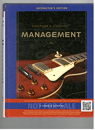 Management: 12th Edition: Instructor's Edition: Kreitner, Robert; Cassidy